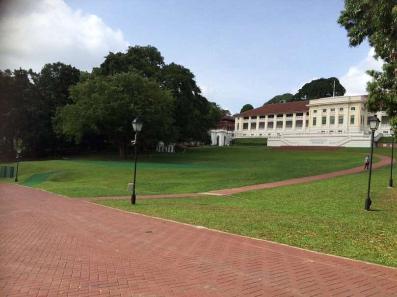 Lush lawns now cover 600 graves at Fort Canning Park , Singapore.