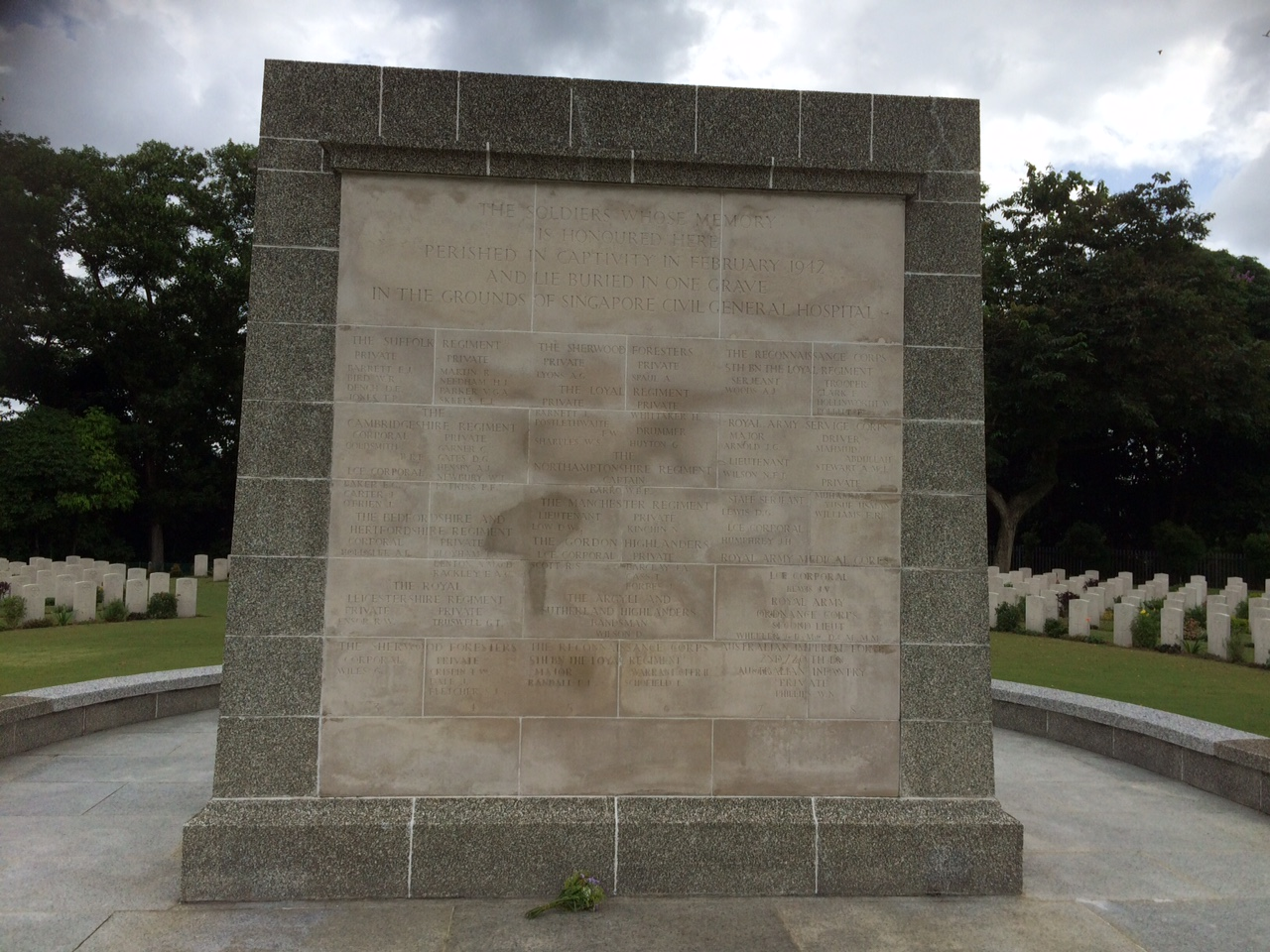 The Singapore Civil Hospital Grave Memorial