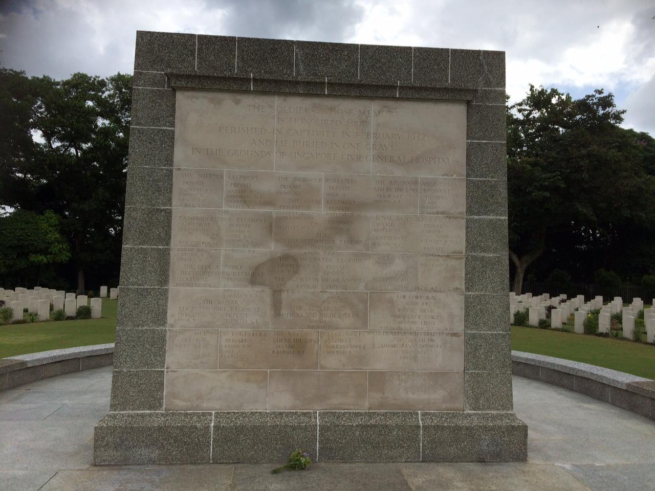 The Singapore Civil Hospital Grave Memorial