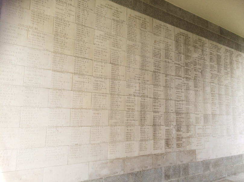 This memorial wall is littered with the names of Australians.