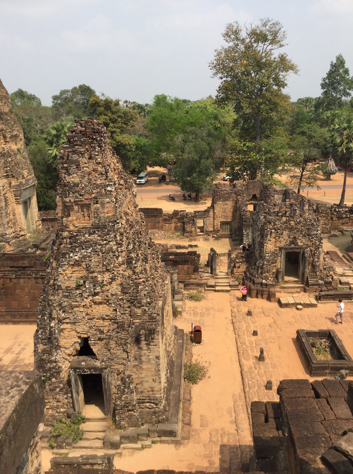 Pre Rup is a Hindu temple near Siem Reap. The building on the left is thought to be a crematorium for men.