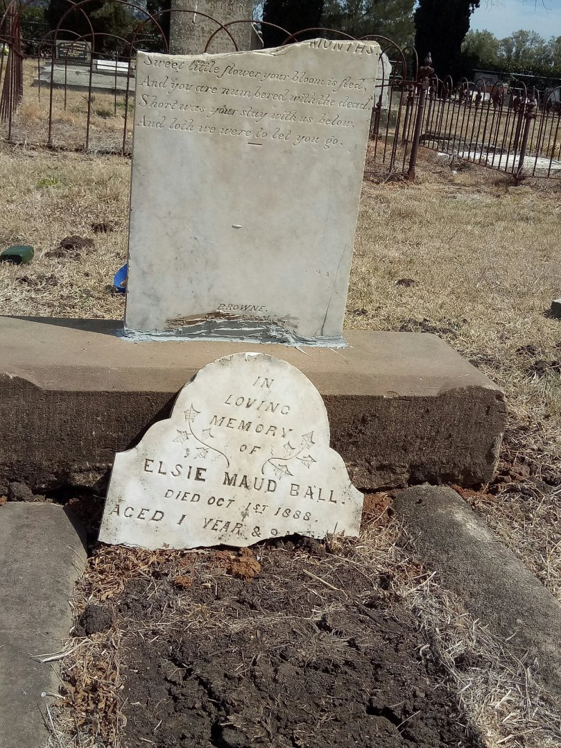 Elsie Maud Ball's grave at Scone's old Anglican cemetery is 129 years old.