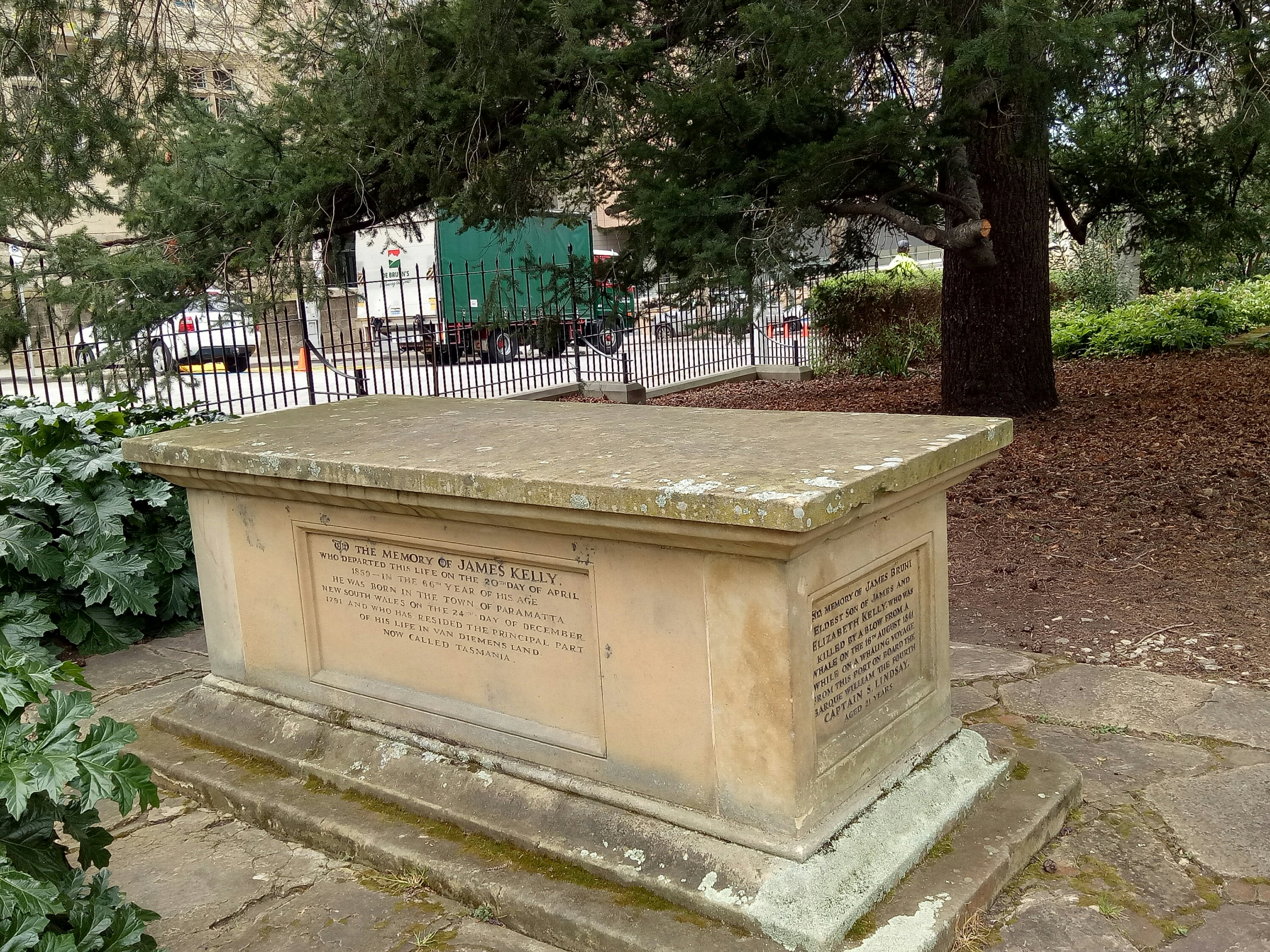 The Kelly tomb in Hobart's St David's Park.